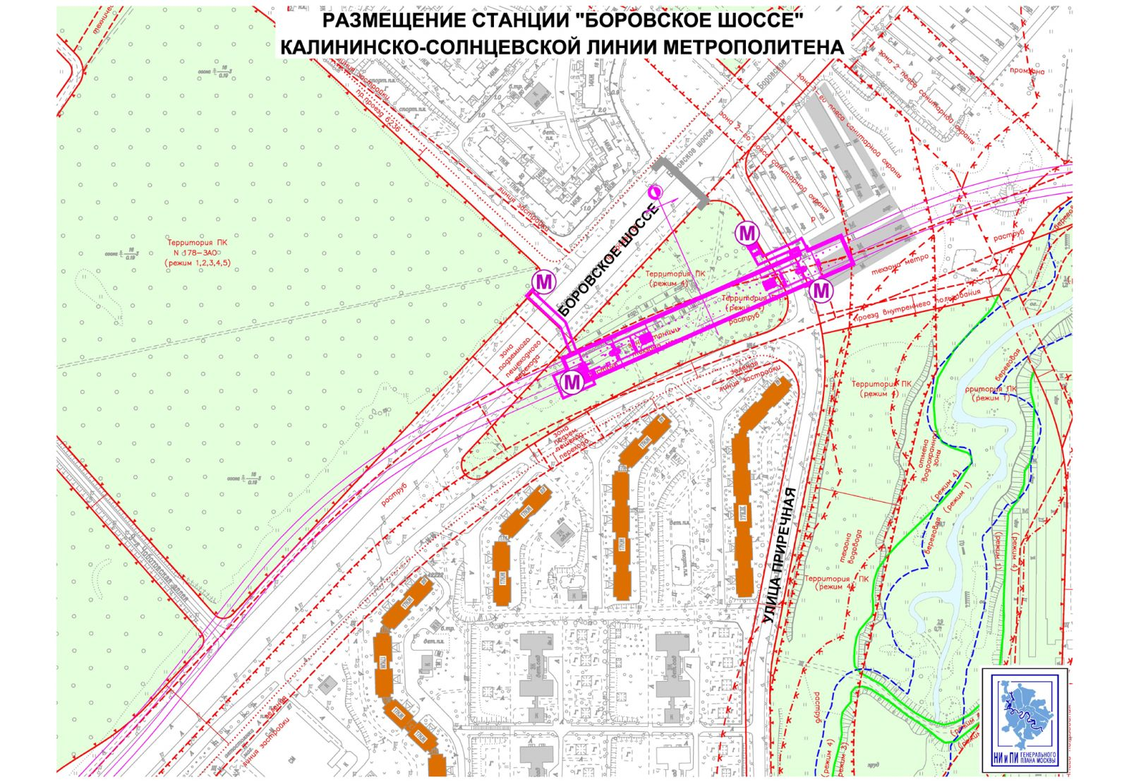 реконструкция боровского шоссе схема